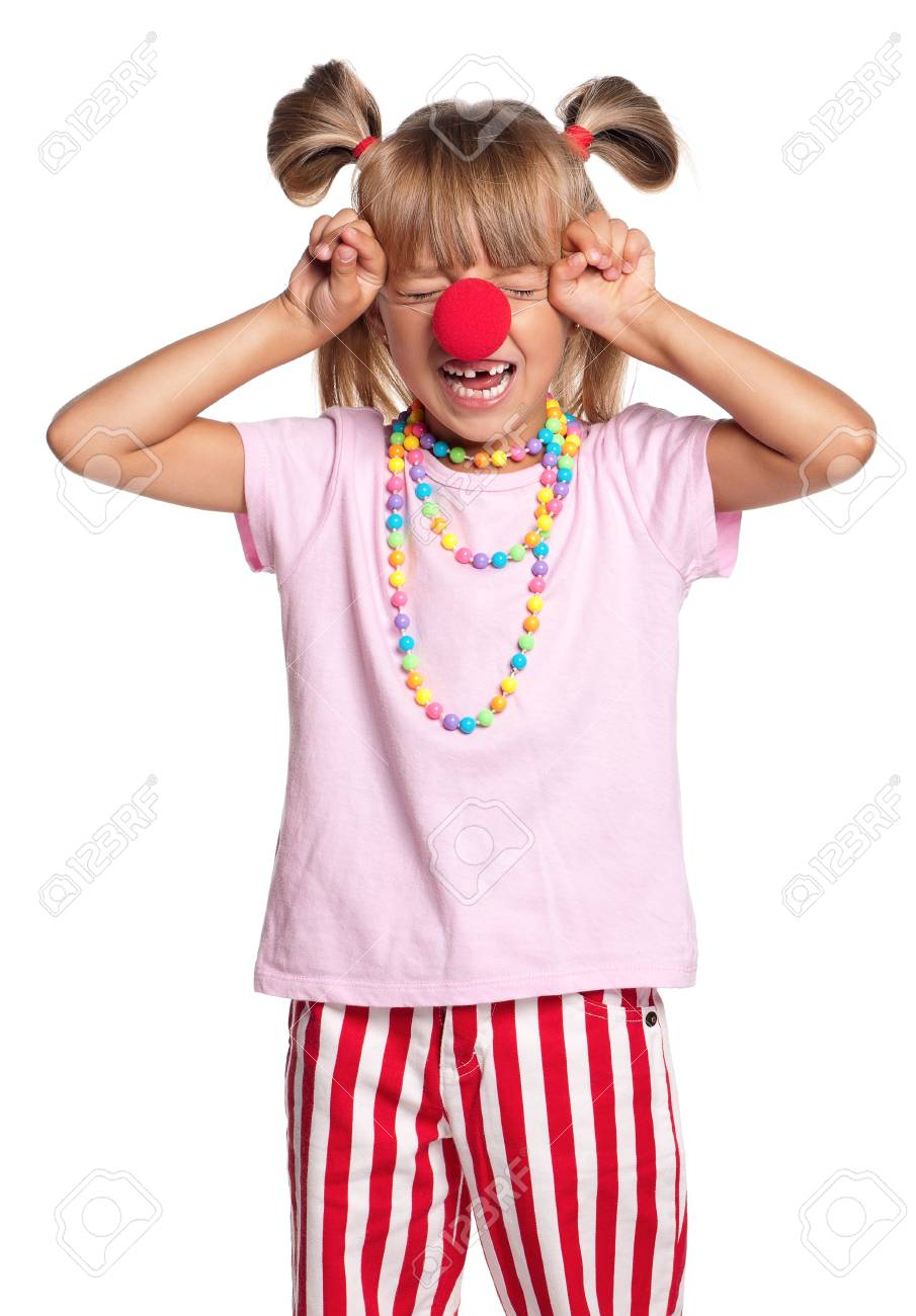 Little girl with clown nose Stock Photo - 15332586
