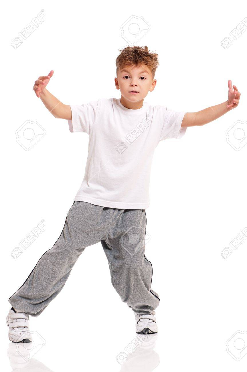 Boy dancing Stock Photo - 17600504