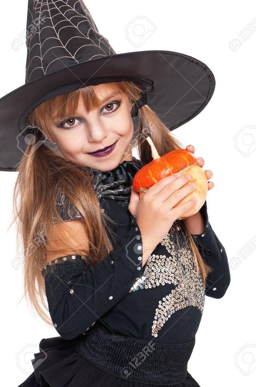 Little girl in halloween costume Stock Photo - 17600339