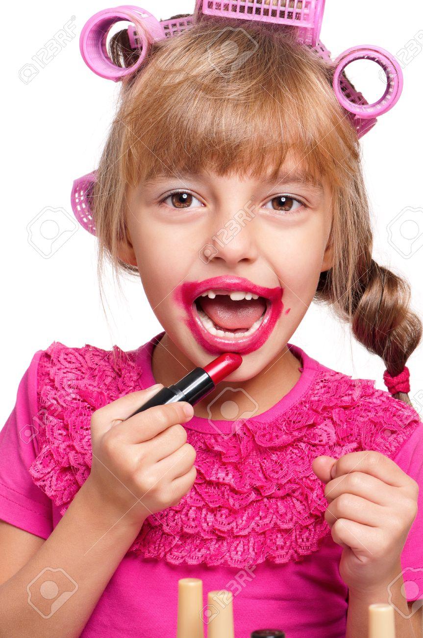 Фото девочка с косметикой