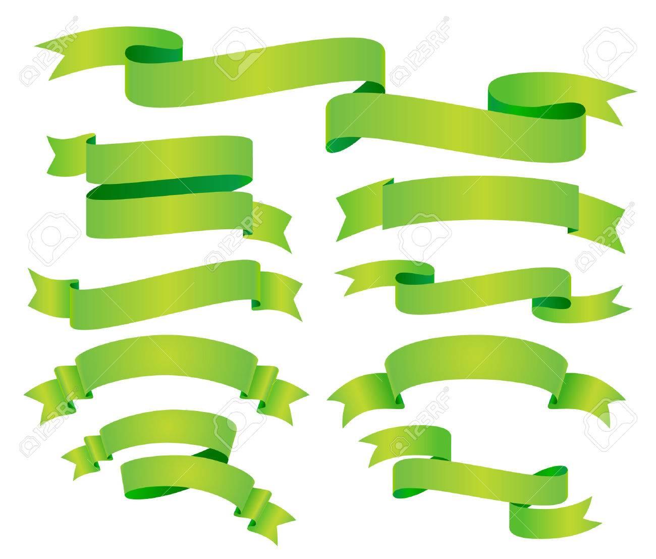 vector green banners Stock Vector - 6076096