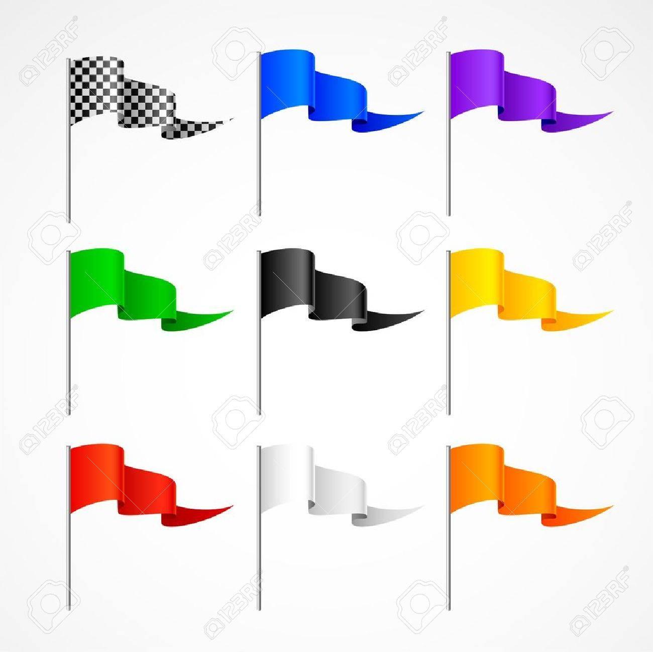 set of sport flags Stock Vector - 6574270