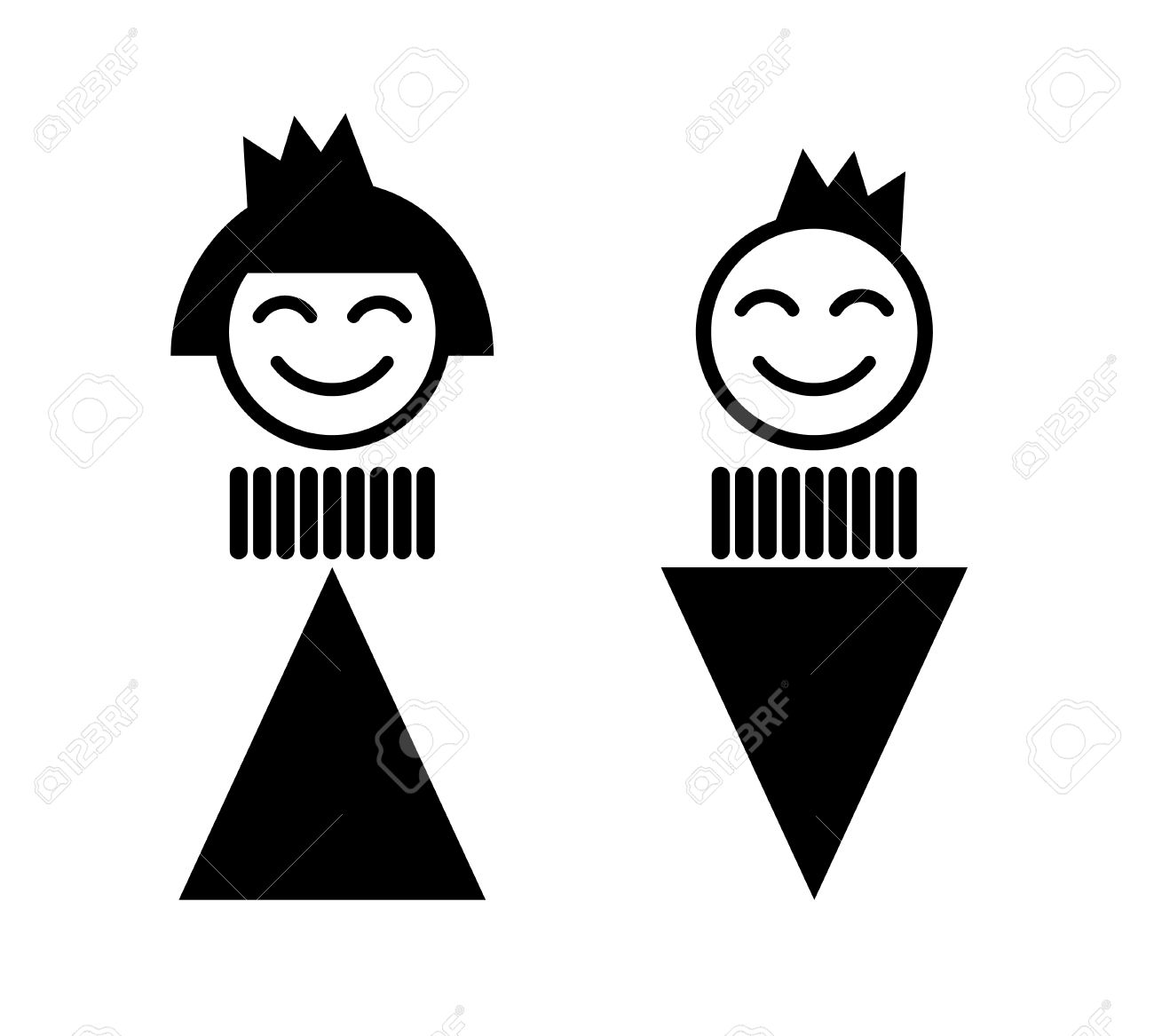 King and queen. Toilet Sign. WC Stock Vector - 7261913