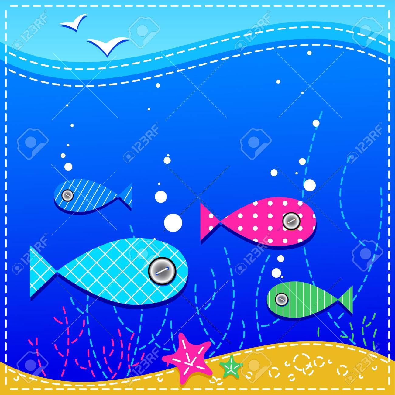 underwater. ocean and fishes. Stock Vector - 7791502