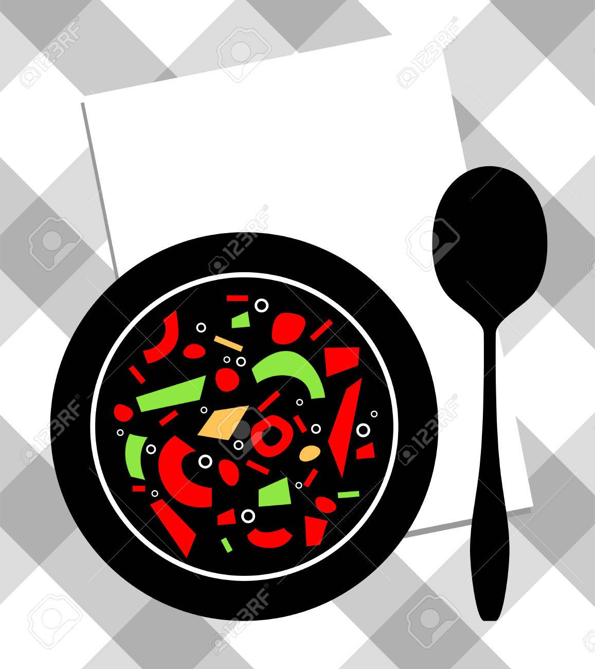 food on plate Stock Vector - 7791492