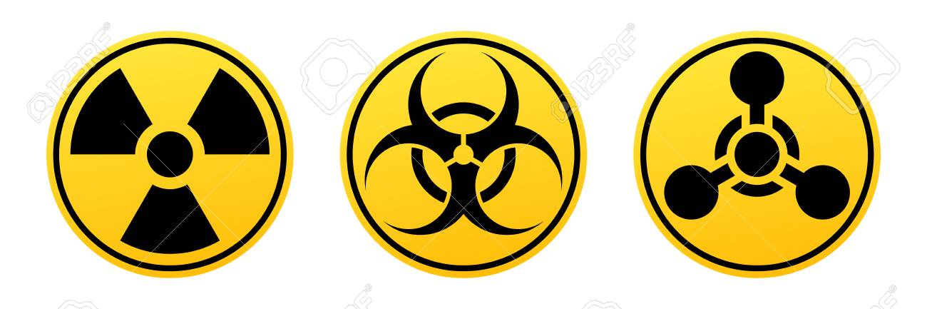danger vector signs radiation sign biohazard sign chemical