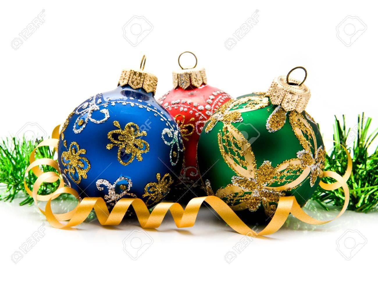 christmas balls on a white background - 15402831
