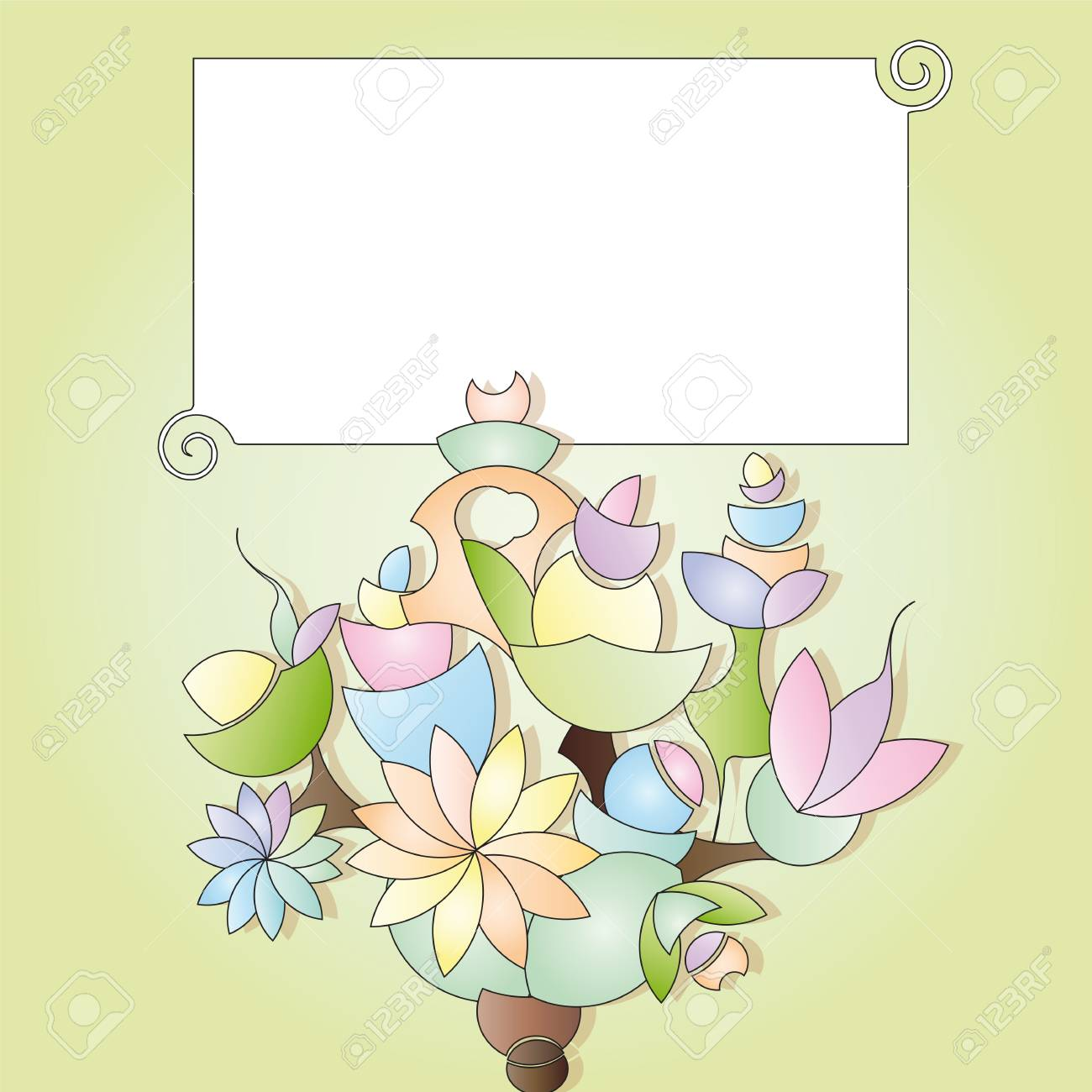 label with bouquet Stock Vector - 13165895