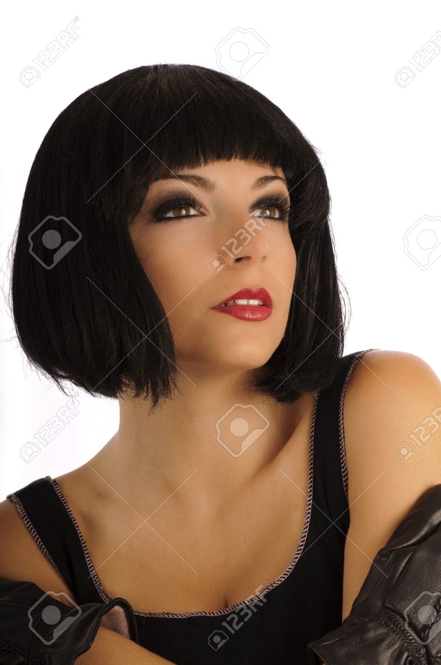 Beautiful girl with bobbed hairstyle Stock Photo - 10883856