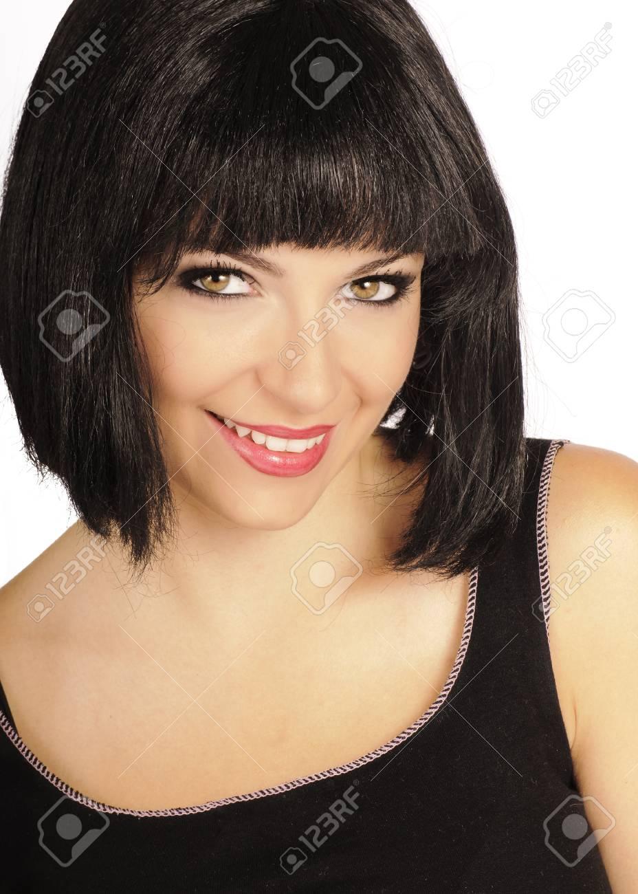 Beautiful girl smiling, isolated Stock Photo - 10883832