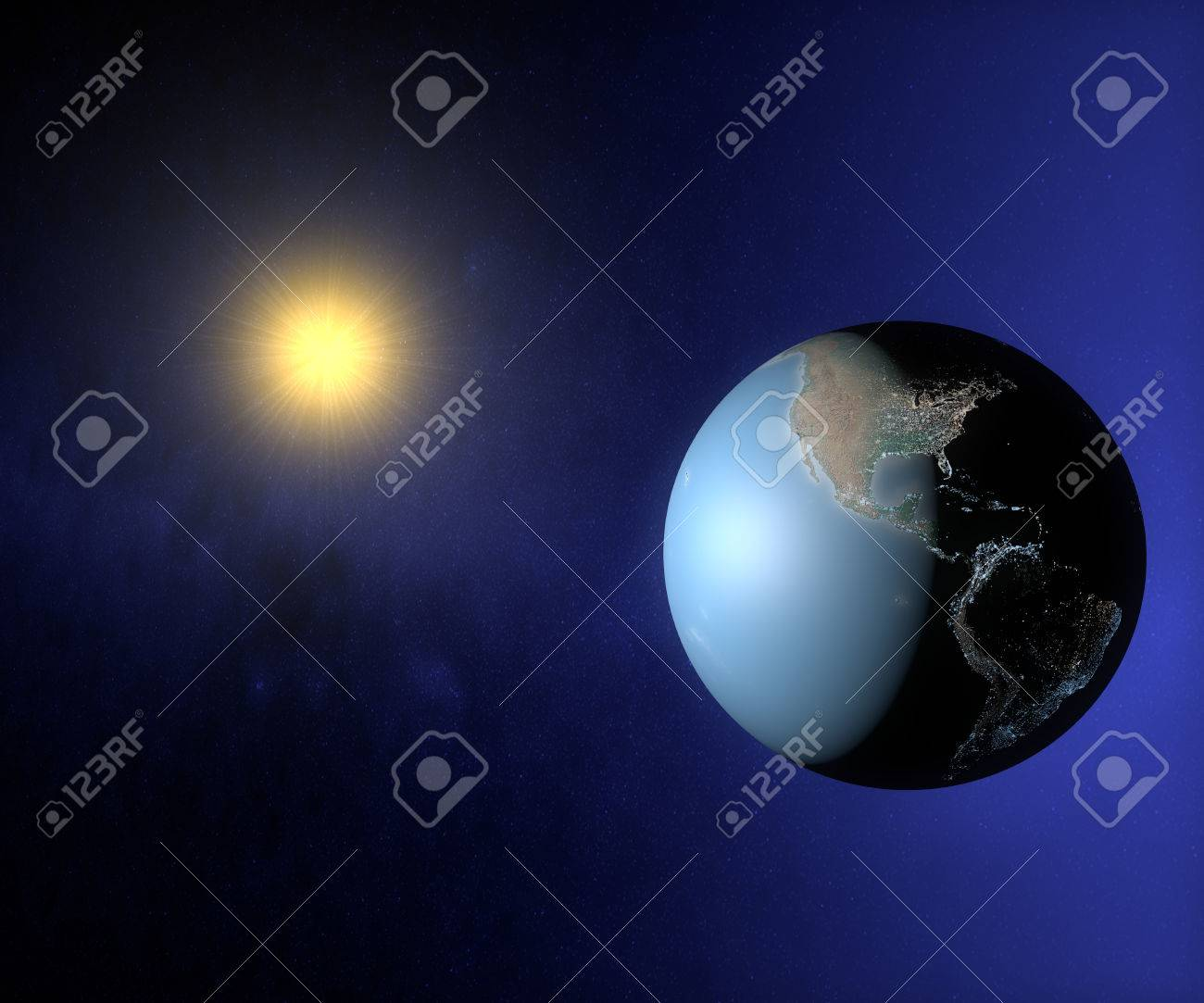 World Globe Map In The Space With Sun And City Lights, America ... on globe map of netherlands, globe earth map, globe map of malaysia, map from usa, globe map of egypt, globe map of new zealand, globe canada, globe map of holland, earth map usa, globe map of greece, new 7 wonders of usa, globe map of yemen, globe world map, globe map of guyana, globe map of israel, globe map of france, globe map of haiti,