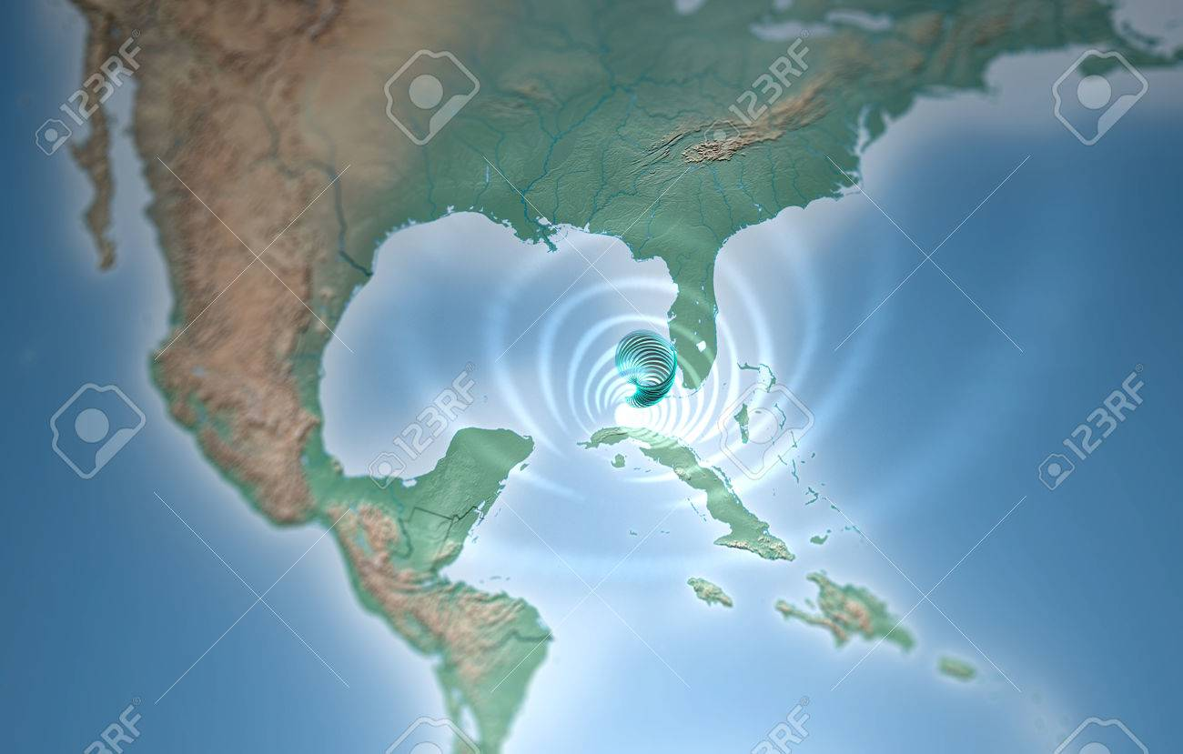 Map Of Florida Gulf.Tornado Map Florida Gulf Of Mexico Stock Photo Picture And Royalty