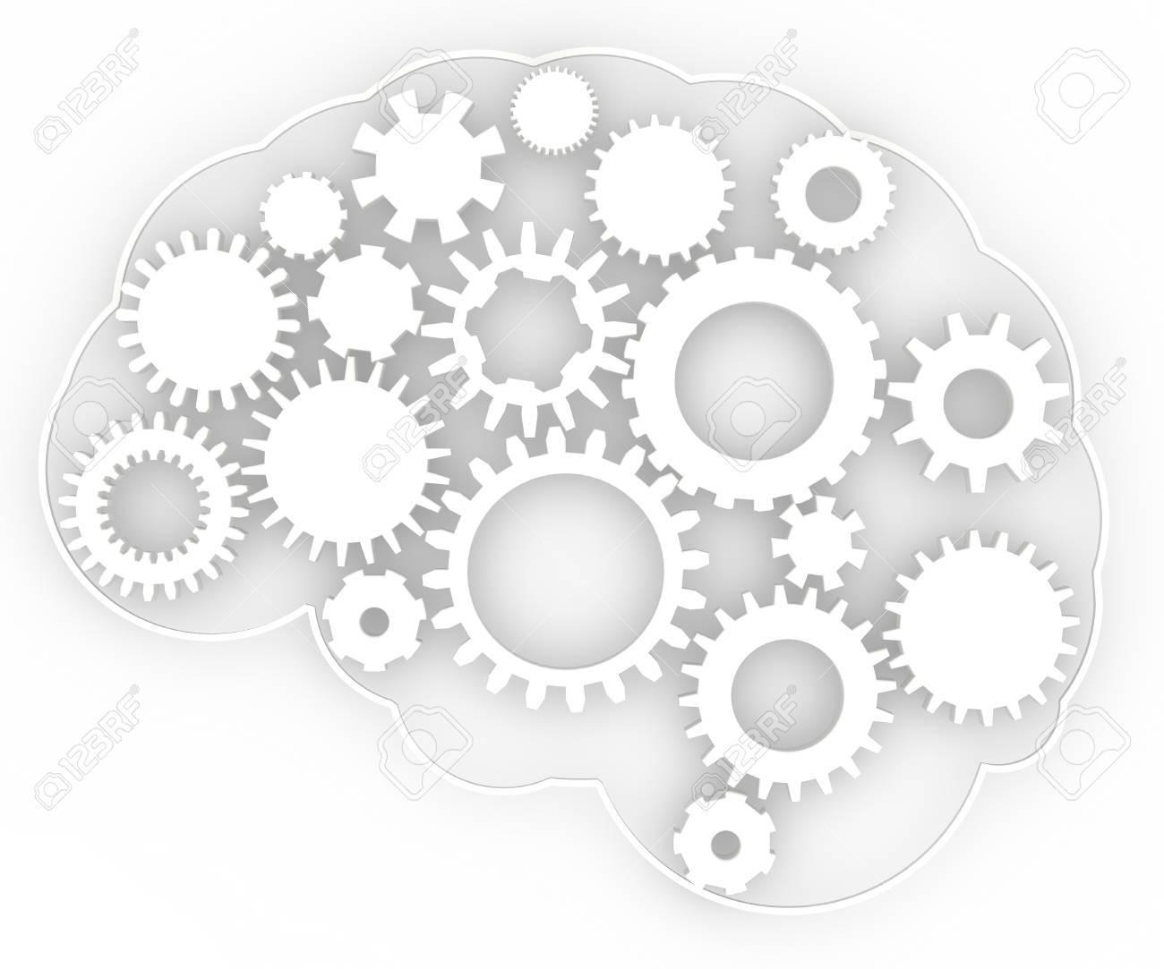 Gehirn-Anatomie Des Menschlichen Körpers Getriebe Ideen Lizenzfreie ...