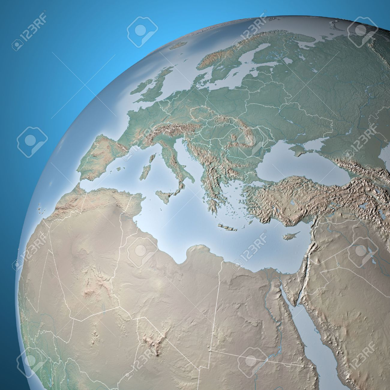 World map physical map middle east north africa europe stock stock photo world map physical map middle east north africa europe gumiabroncs Image collections