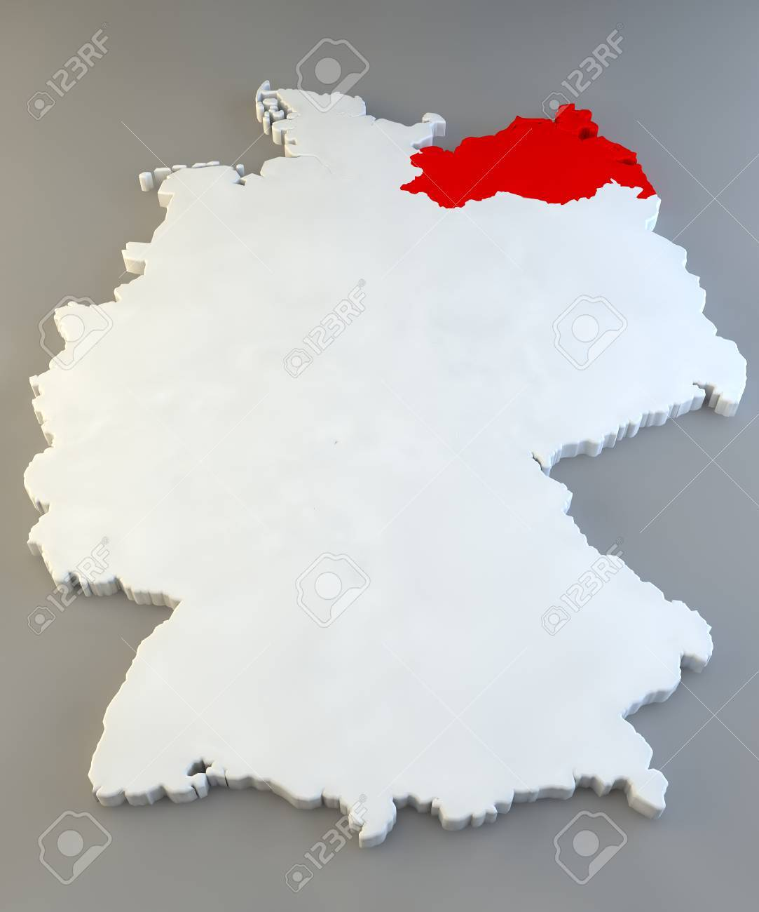 Germany Region Map MecklenburgVorpommern Stock Photo Picture And