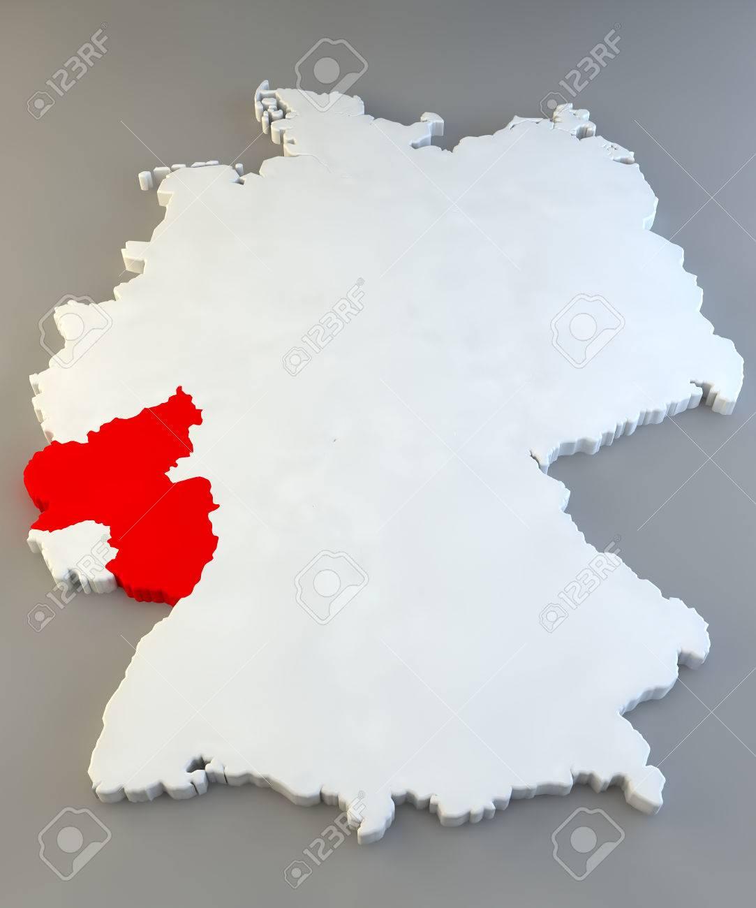 Germany Region Map Rheinland Pfalz Stock Photo Picture And Royalty