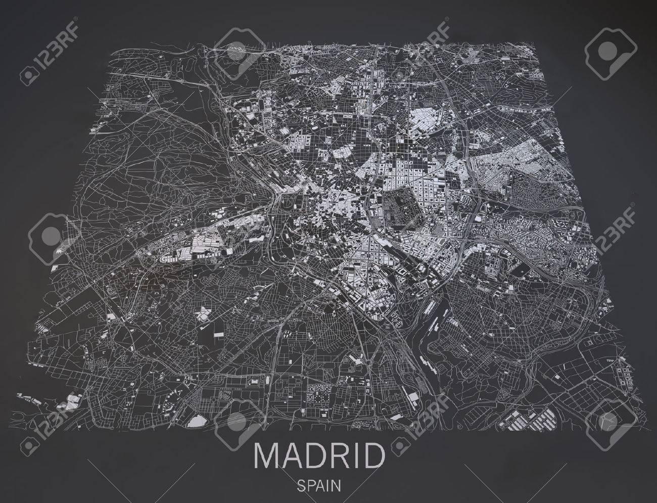 Satellite Map Of Spain.Map Of Madrid Spain Satellite Map View In 3d