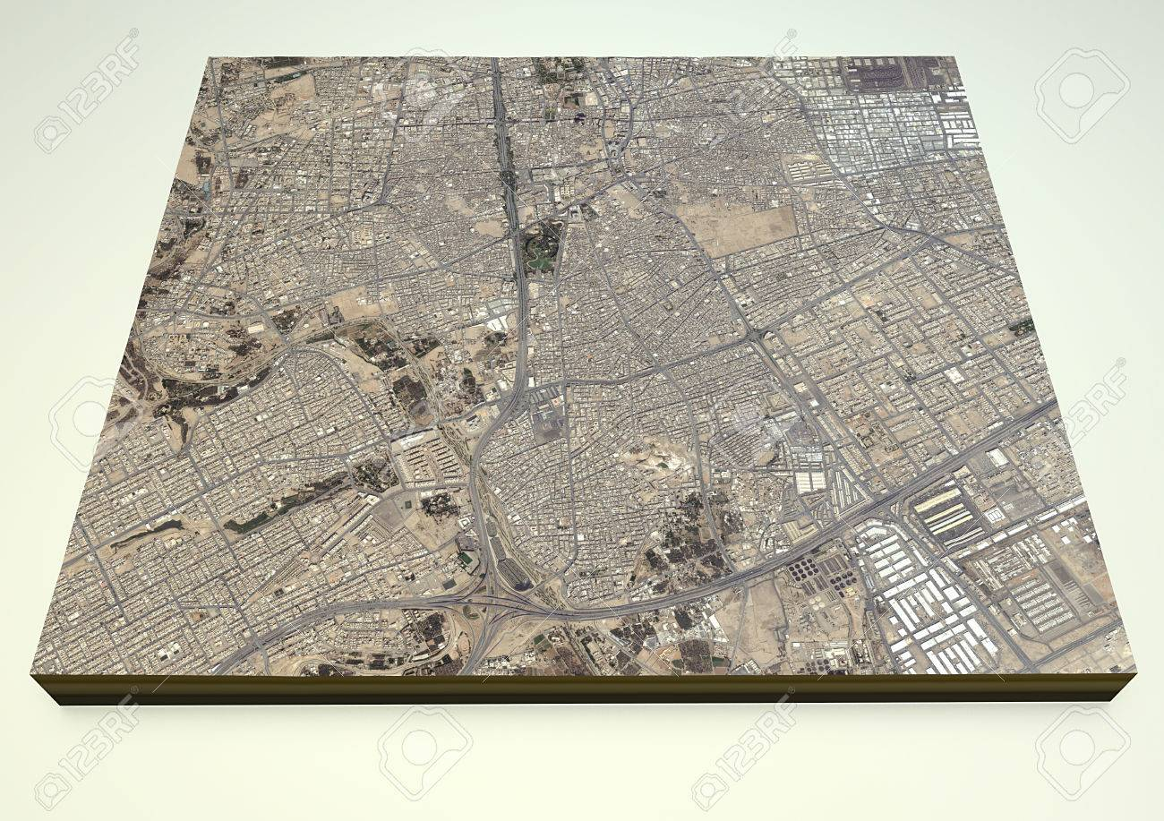 Riyadh Saudi Arabia D Map Satellite View Stock Photo Picture And - Riyadh map