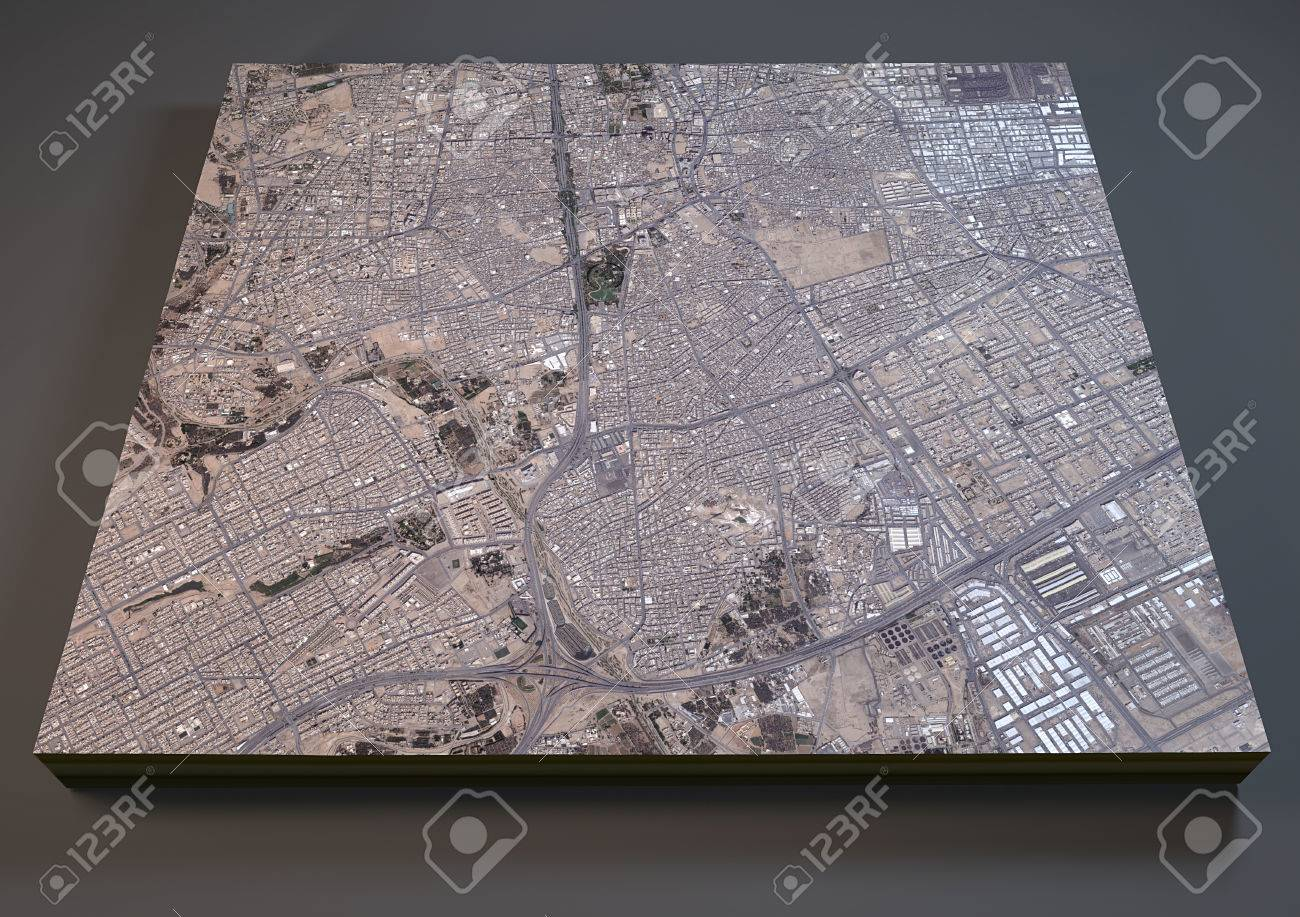 Riyadh Saudi Arabia 3d Map Satellite View Stock Photo Picture And