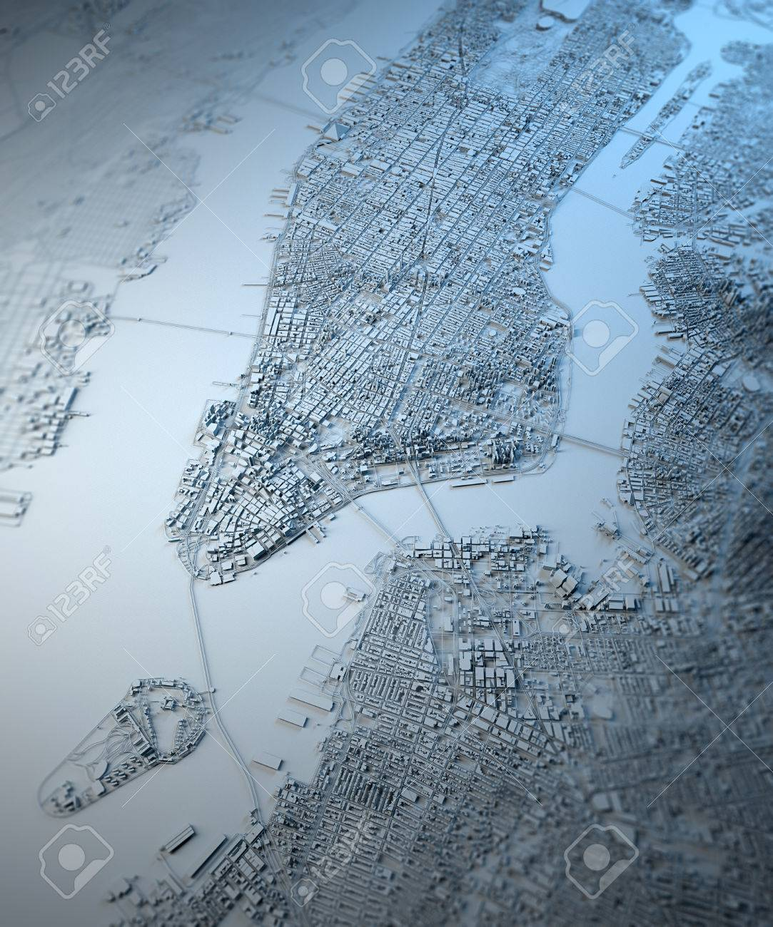 Map Of New York 3d.New York 3d Map Satellite View Building