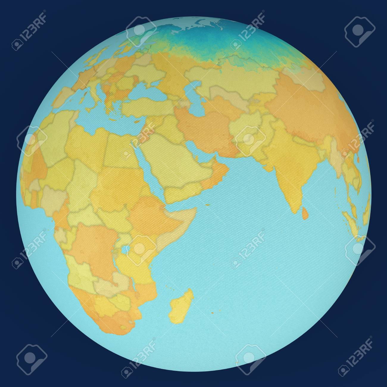 Picture of: World Middle East Globe Map Stock Photo Picture And Royalty Free Image Image 50924402