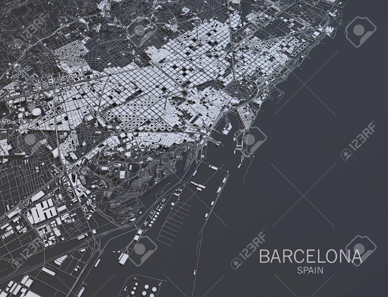 Satellite Map Of Spain.Barcelona Map Satellite View Spain