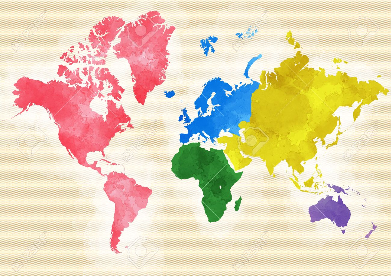 World map divided into continents stock photo picture and royalty stock photo world map divided into continents gumiabroncs Choice Image