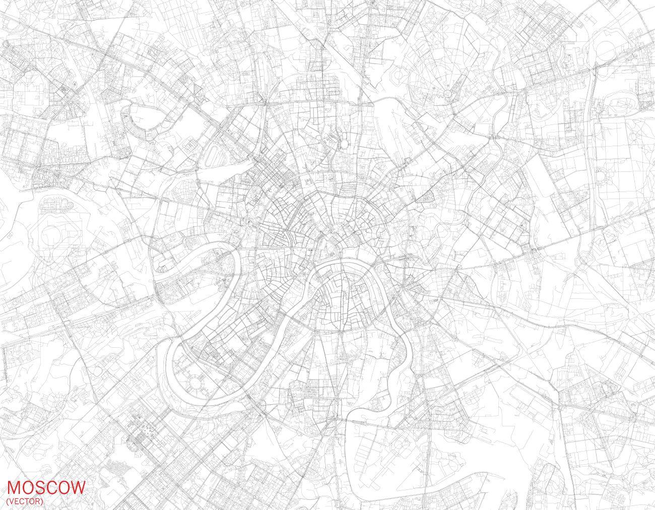 Mapa De Moscu Foto Satelite Calles Y Carreteras Rusia