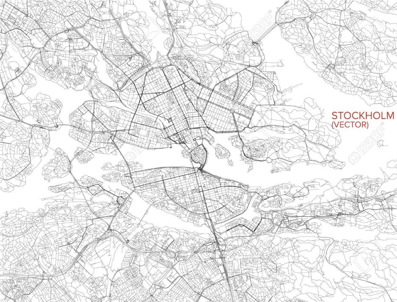 Map Of Stockholm Satellite View Streets And Highways Sweden
