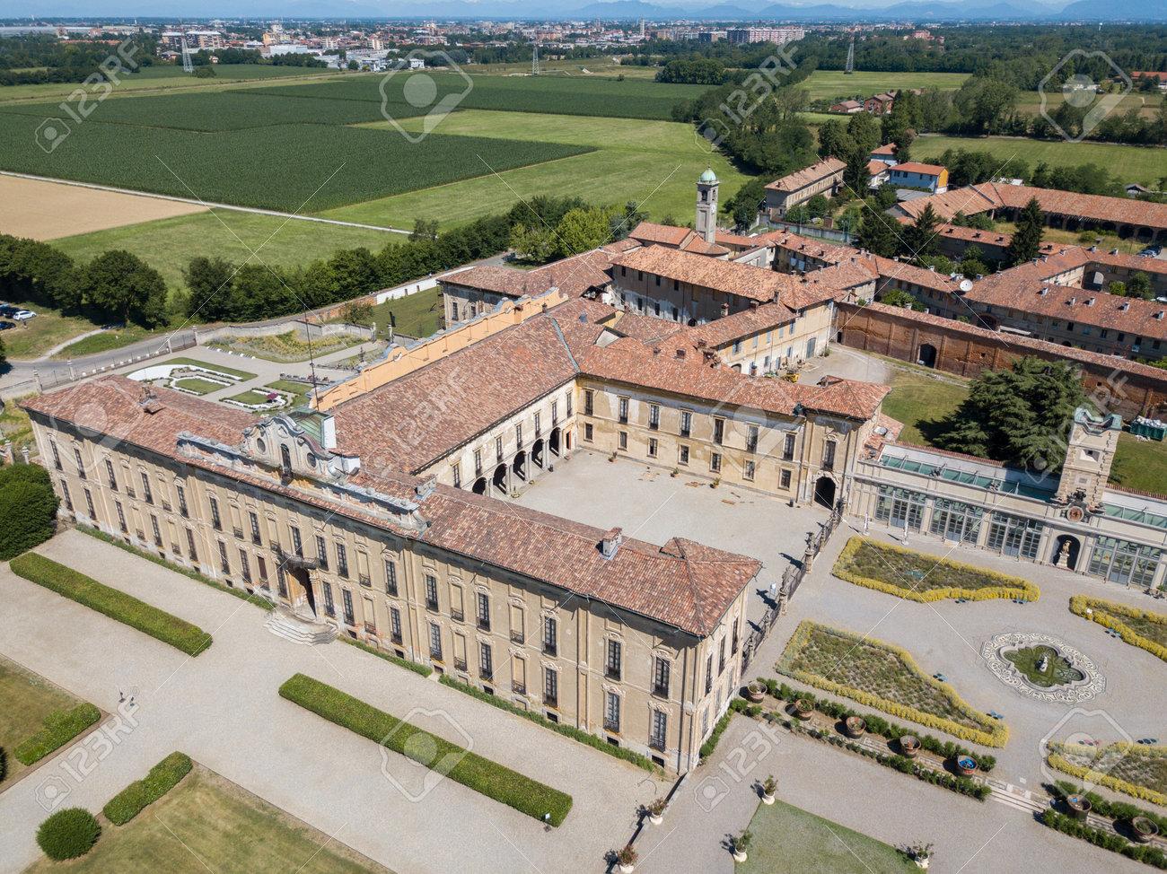 Villa Arconati Castellazzo Bollate Milan Italy Aerial View
