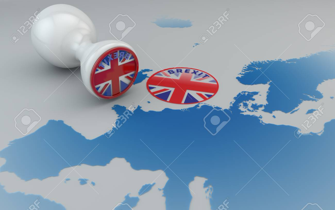 brexit stamp and map of europe england and european community stock photo 80769039