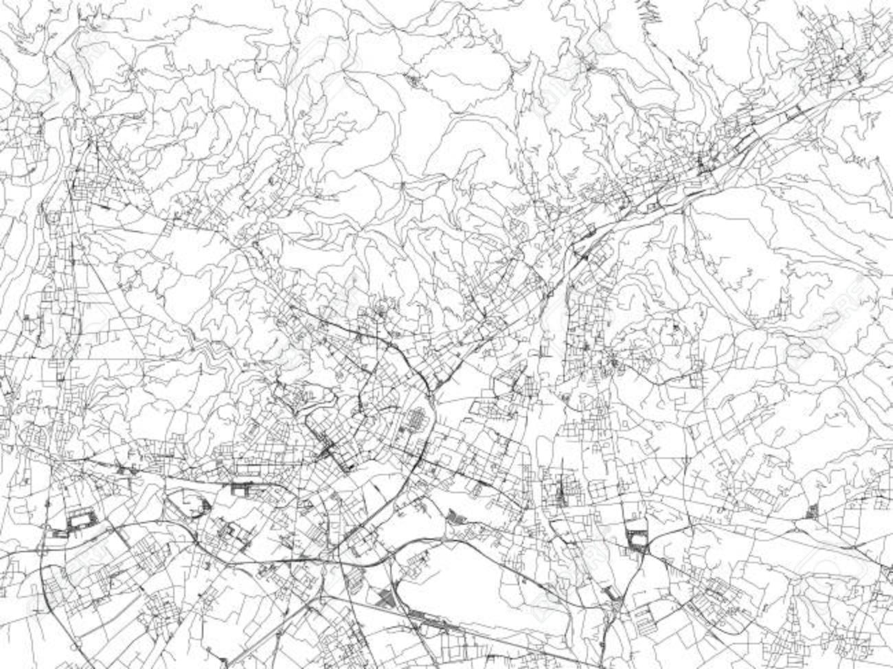 Cartina Satellitare Lombardia.Vettoriale Strade Di Bergamo Mappa Della Citta Lombardia Italia Cartina Stradale Image 90315517
