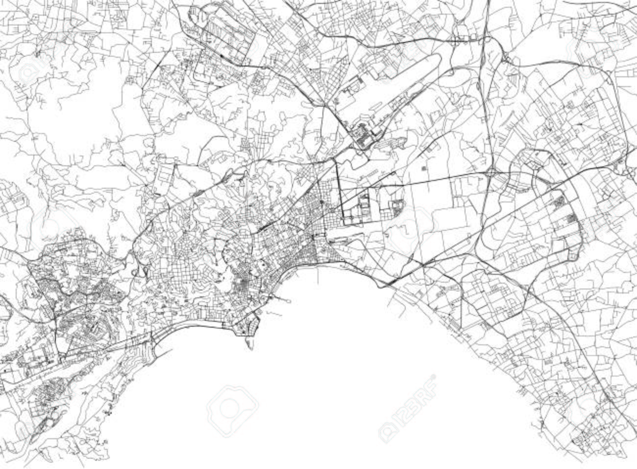 Streets of naples city map campania italy street map royalty streets of naples city map campania italy street map stock vector altavistaventures Choice Image