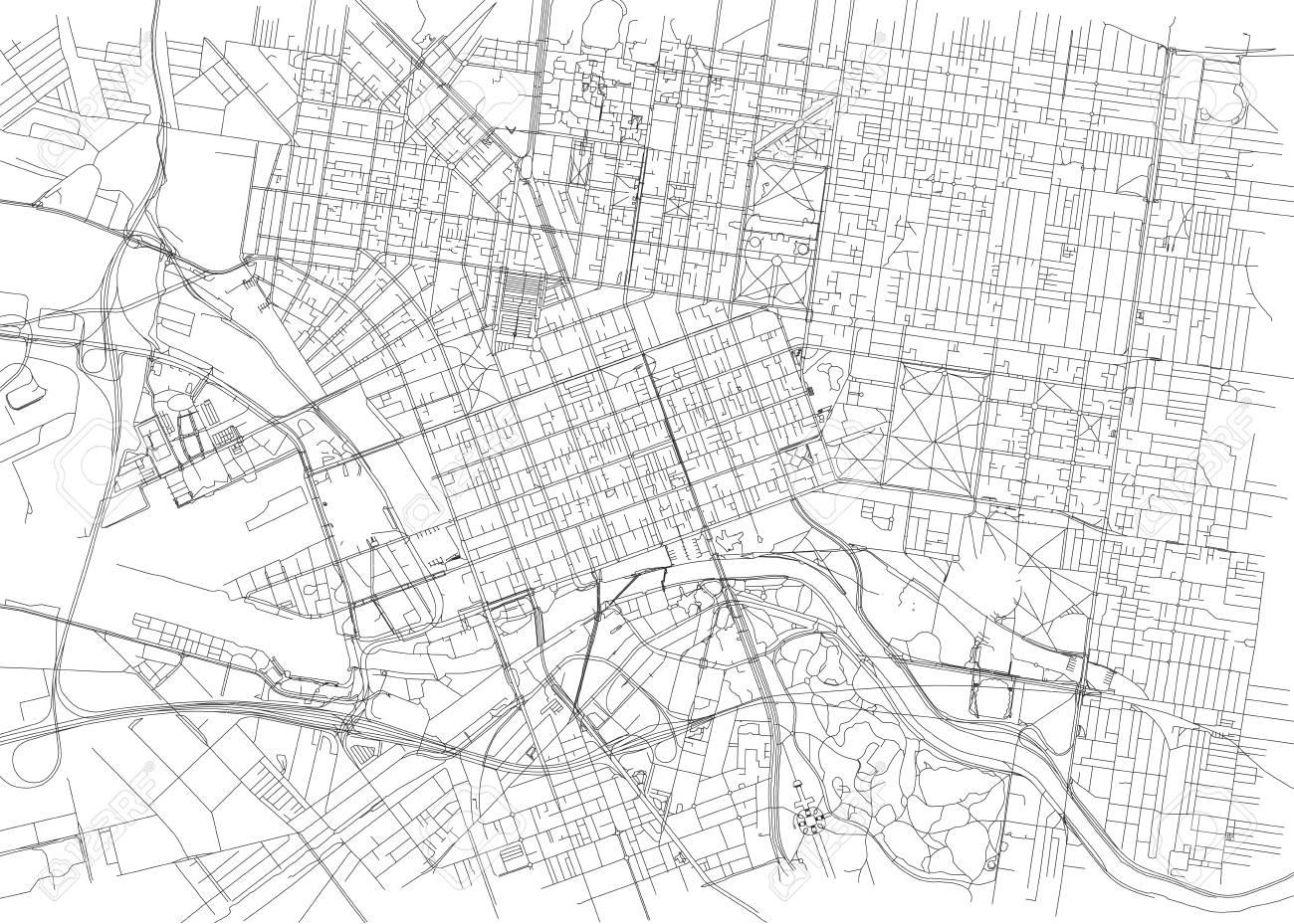 Melbourne Australia City Map.Streets Of Melbourne City Map Australia Street Map Royalty Free