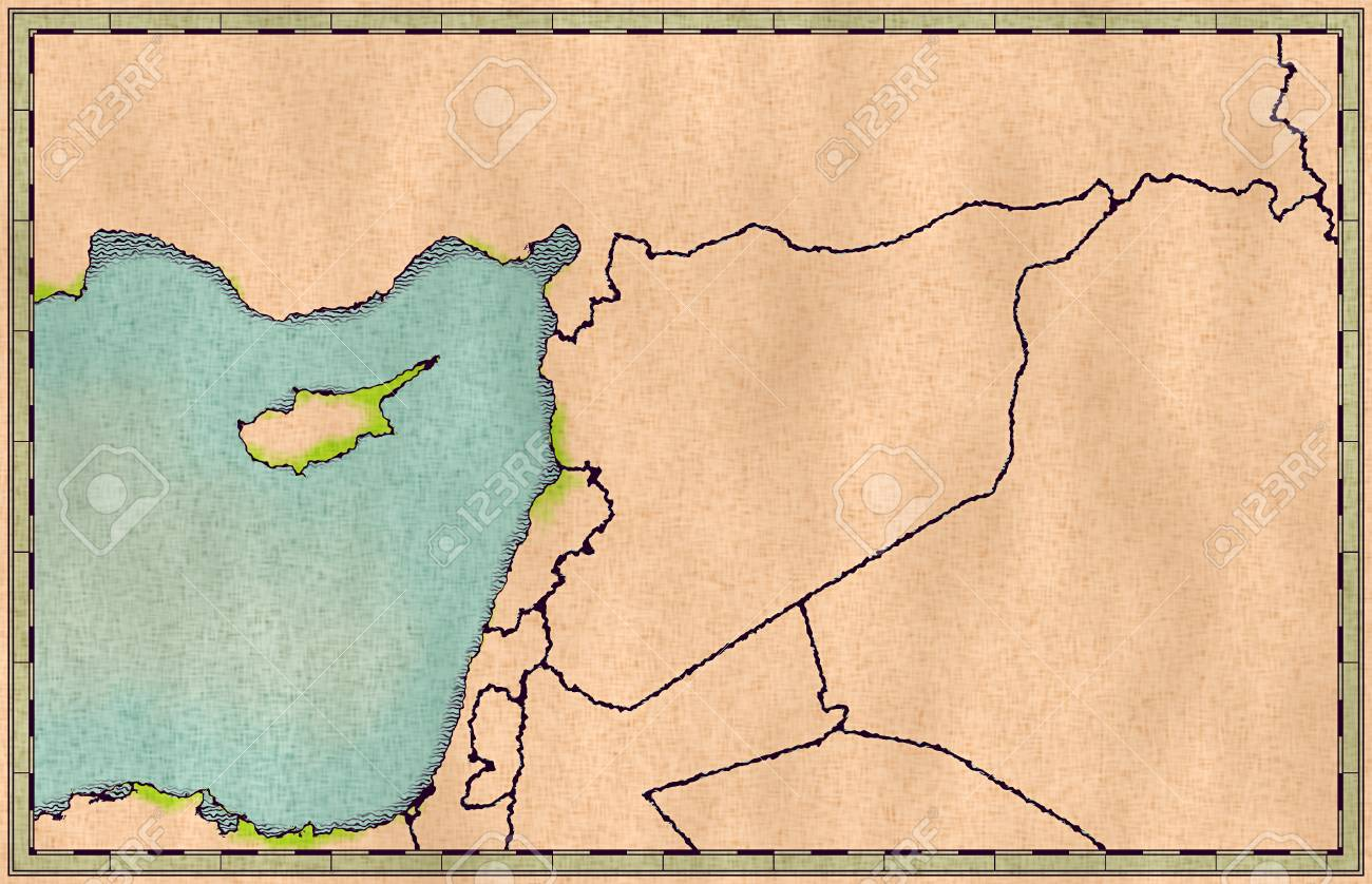 Picture of: Map Of Syria And Borders Physical Map Middle East Arabian Peninsula Stock Photo Picture And Royalty Free Image Image 100972316
