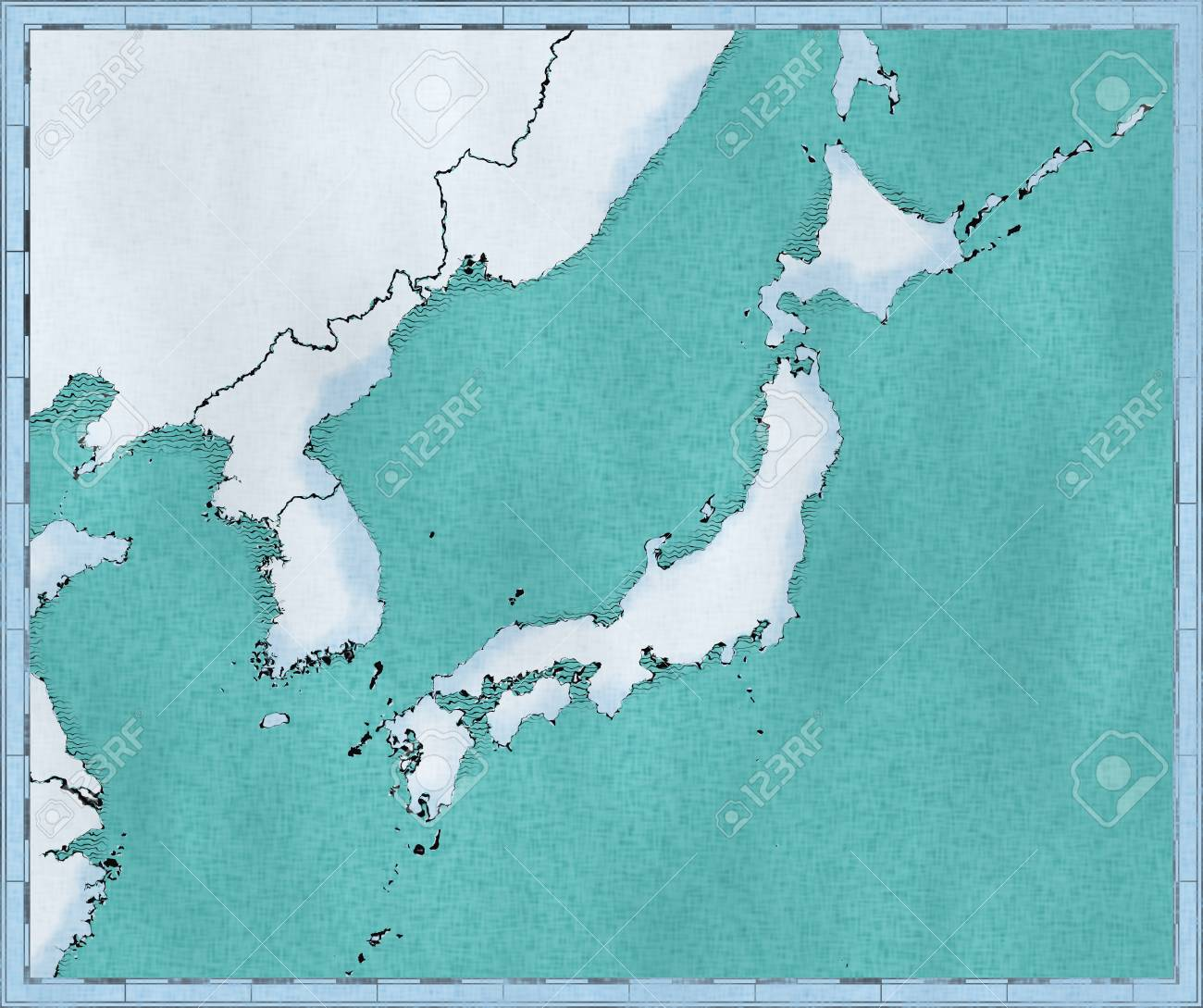 Map Of Japan North Korea And South Korea Physical Map Asia