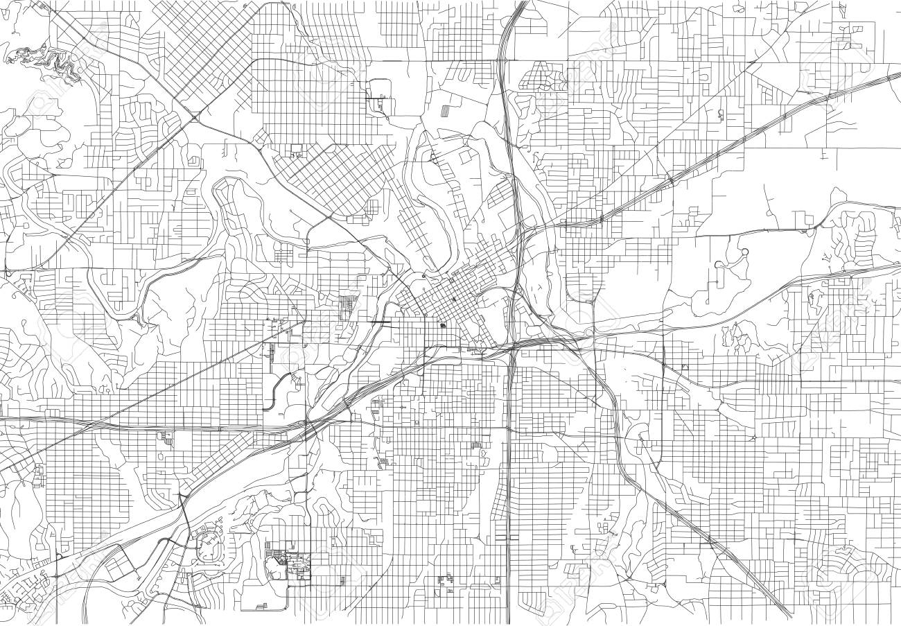 Streets Of Fort Worth City Map Texas Roads And Urban Area