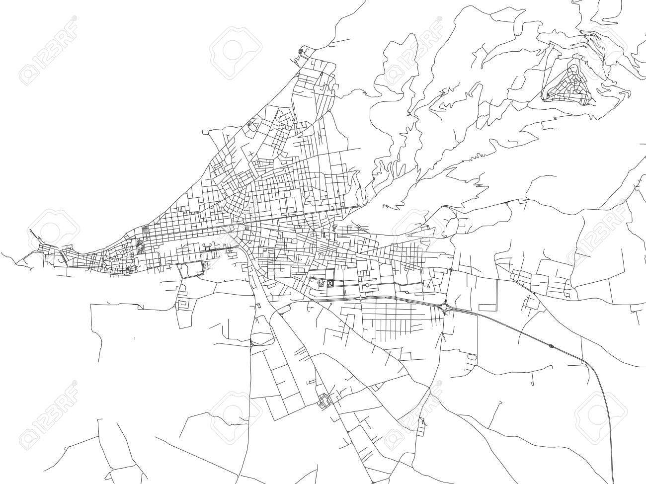 Regional Italy Map.Streets Of Trapani Map Of The City Regional Capital Sicily