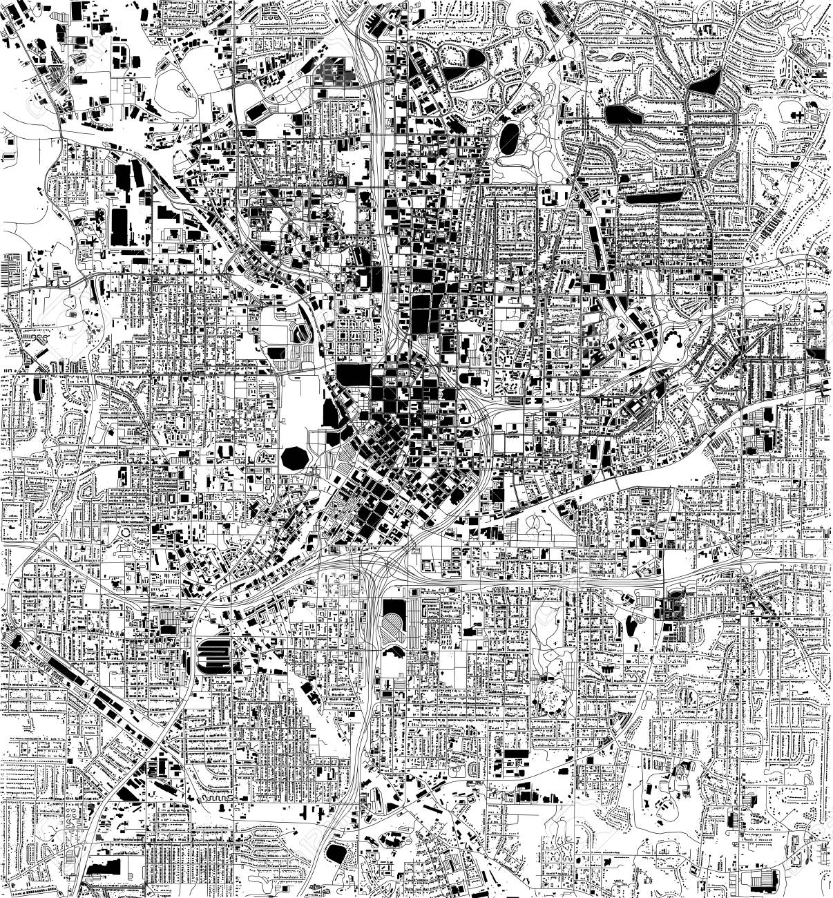 Satellite Map Of Georgia.Satellite Map Of Atlanta Georgia Usa City Streets Street