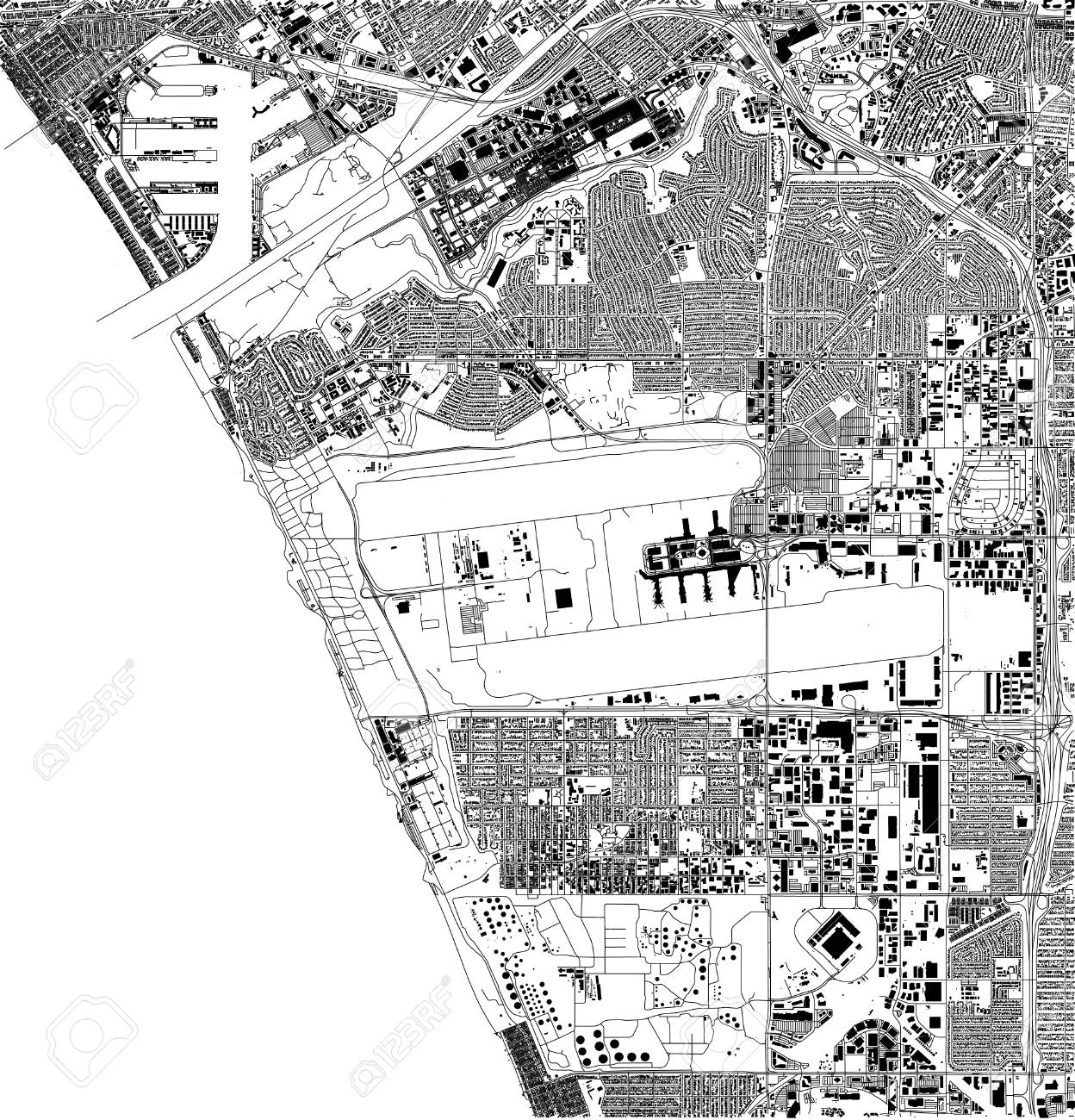 Satellite map of Los Angeles, airport, California, USA, city.. on black and white portraits of women, latitude and longitude of usa, black and white map of asia,