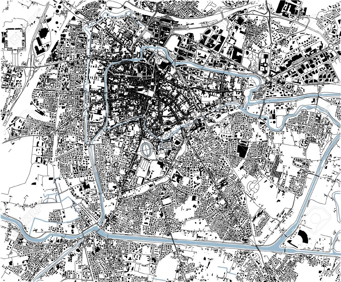 Satellite Map Of Padua Padua Italy City Streets Street Map