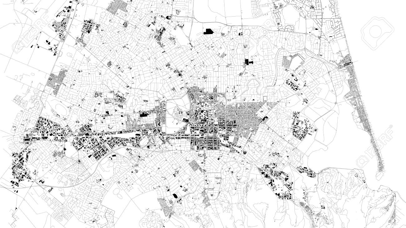 Satellite Map Of Christchurch Is The Largest City In The South ... on