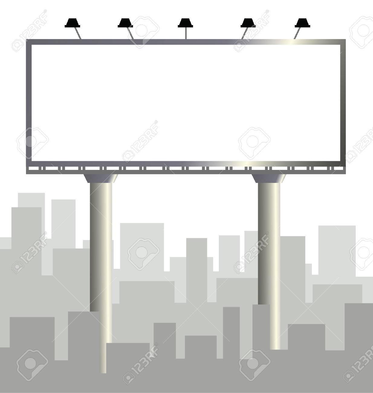 Vector Billboard Template Outdoor Advertising Vector Illustration