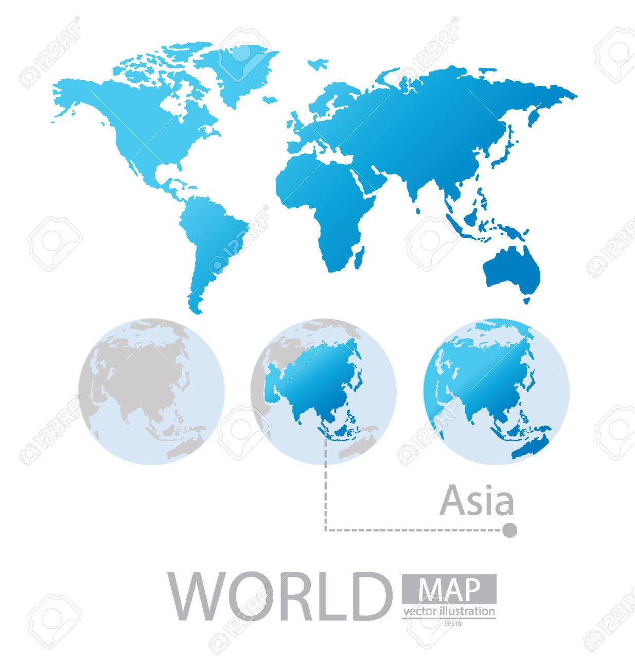 Asia world map vector illustration royalty free cliparts vectors asia world map vector illustration stock vector 24863314 gumiabroncs Images