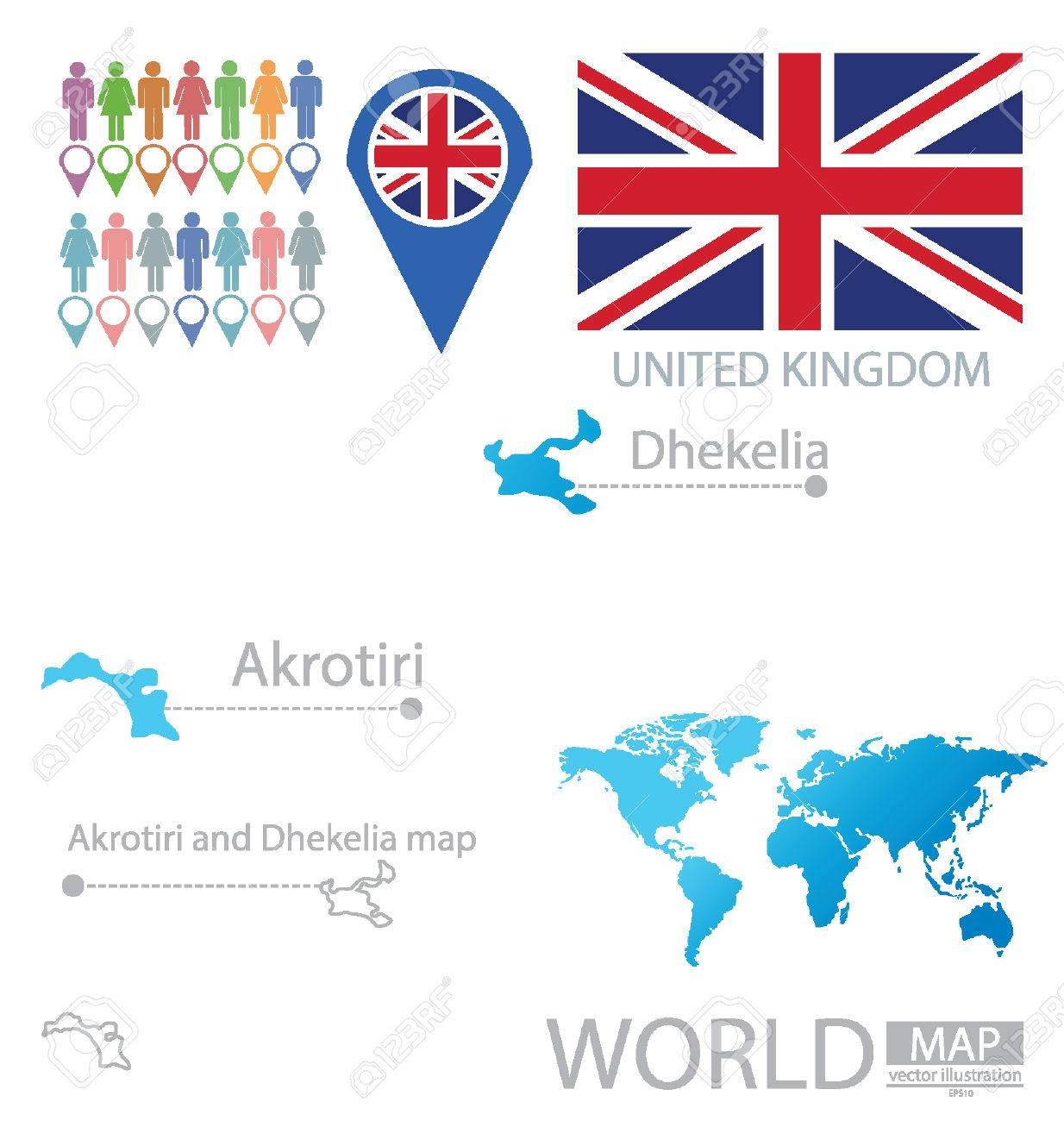 Akrotiri And Dhekelia United Kingdom Vector Illustration Royalty