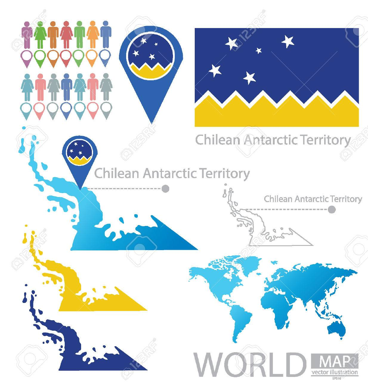 Chilean Antarctic Territory vector Illustration Stock Vector - 24896221