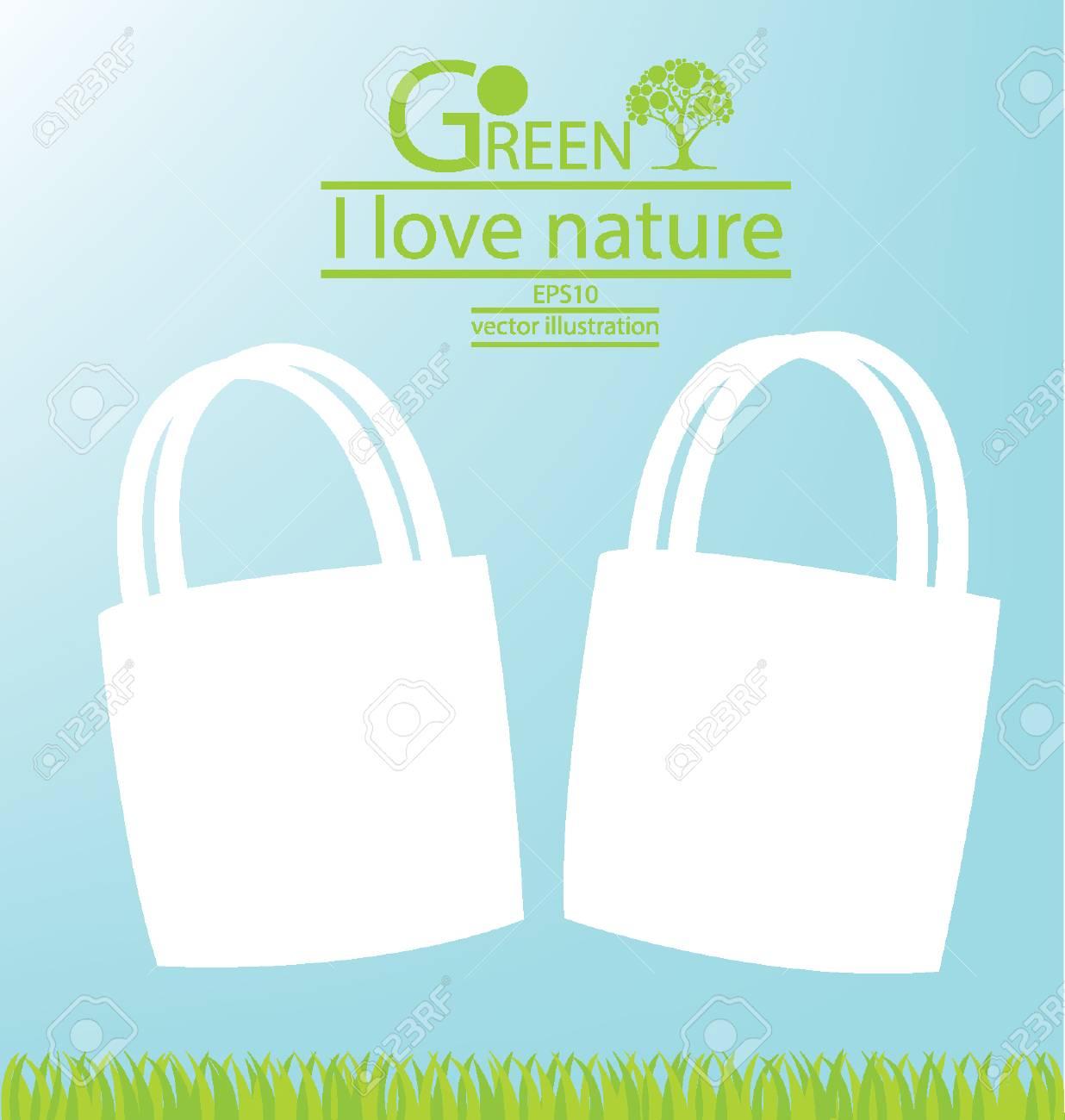 Bags, Go green, Save world vector illustration Stock Vector - 24941152