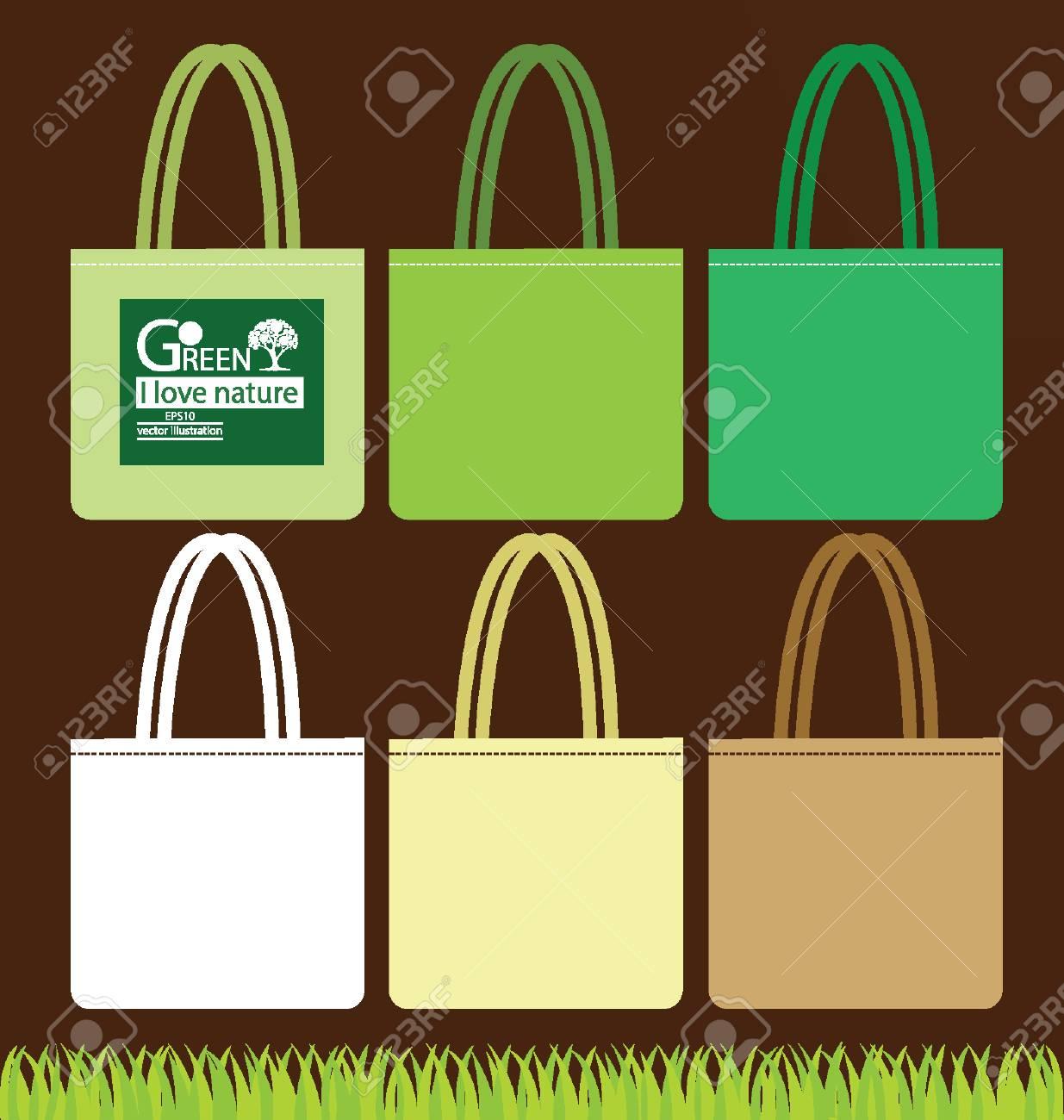 Bags, Go green concept vector illustration Stock Vector - 24924495