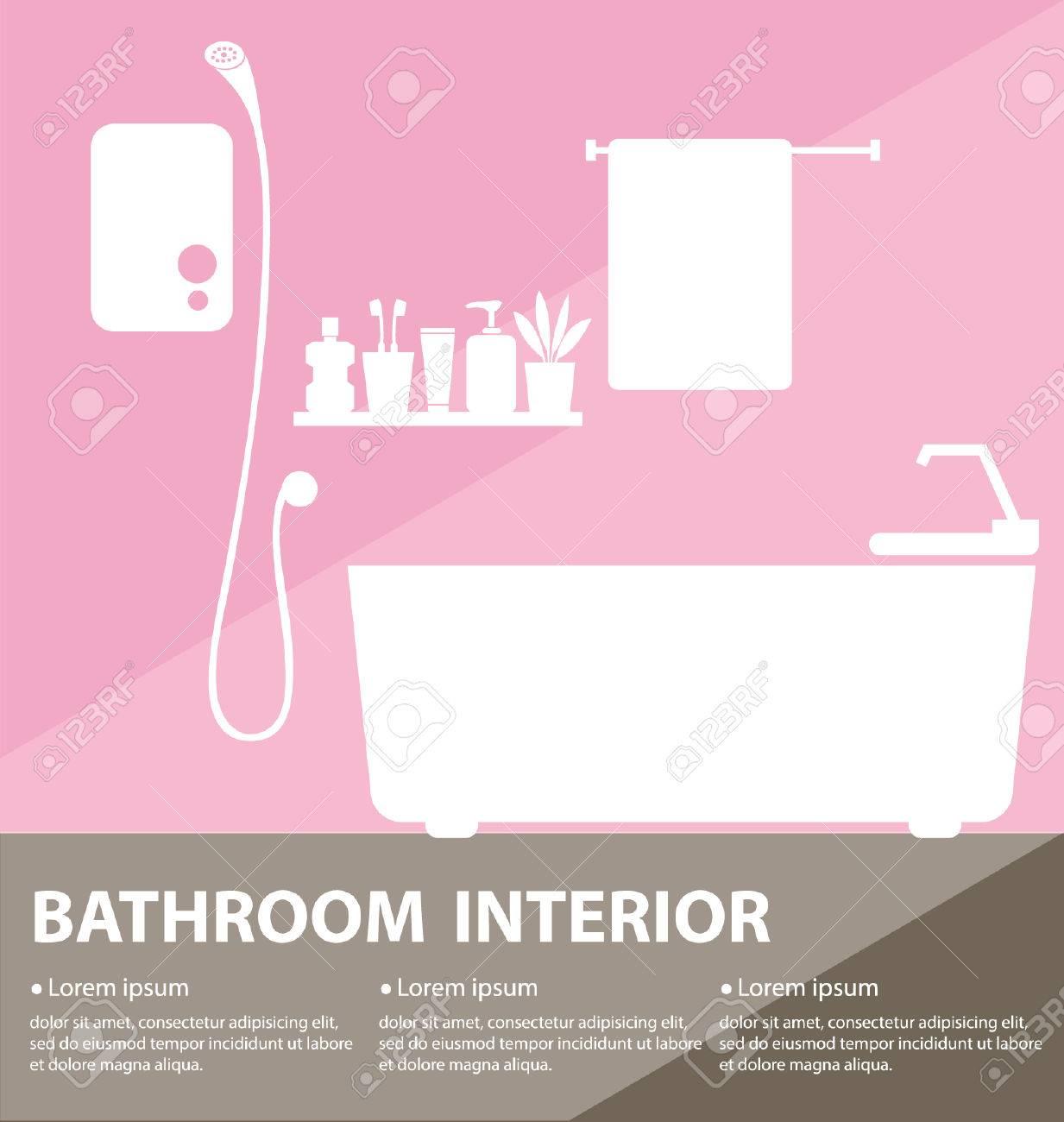 Bathroom interior vector illustration Stock Vector - 25935507