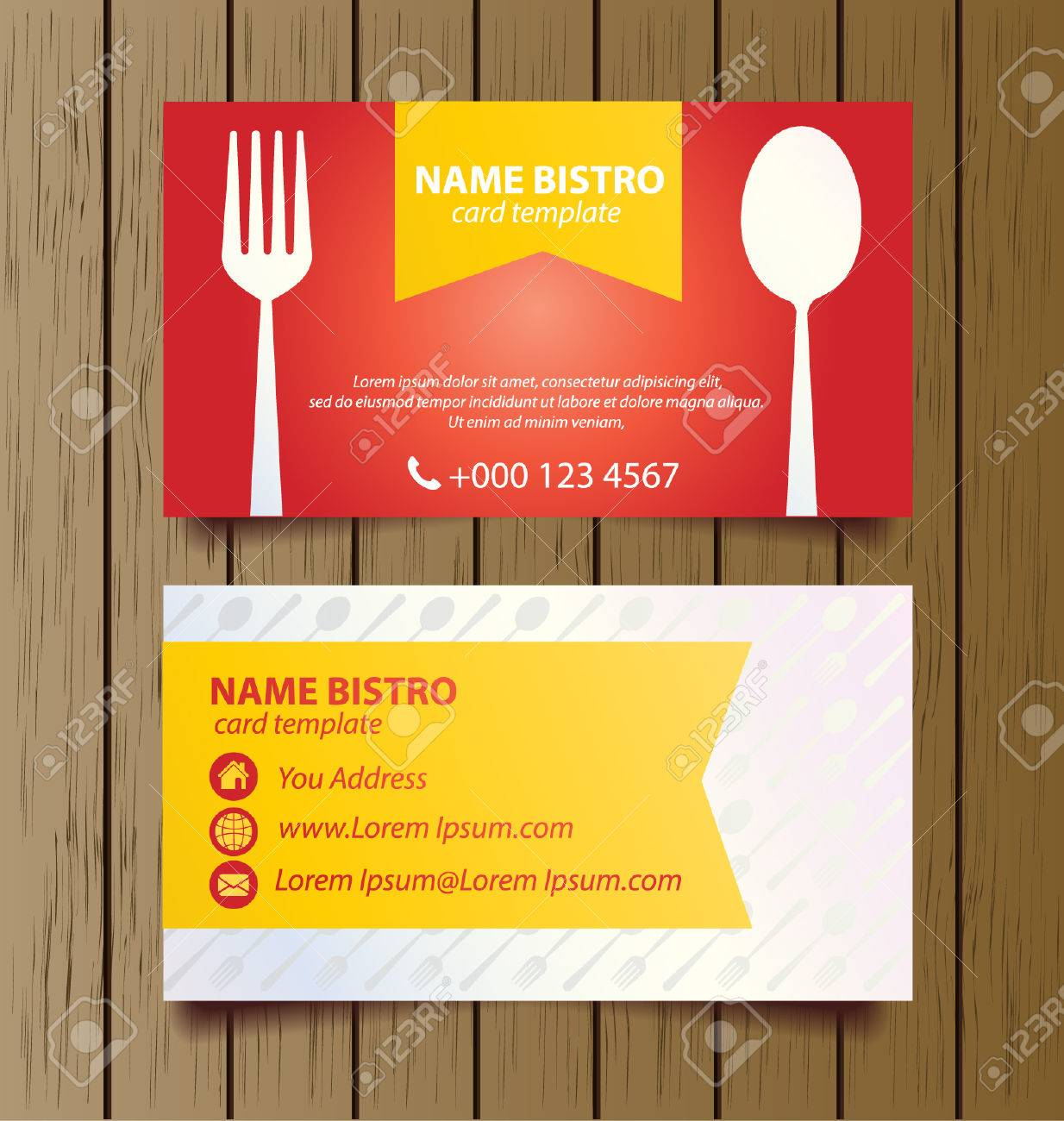 Business card template for restaurant business vector royalty free business card template for restaurant business vector stock vector 28388460 reheart Gallery